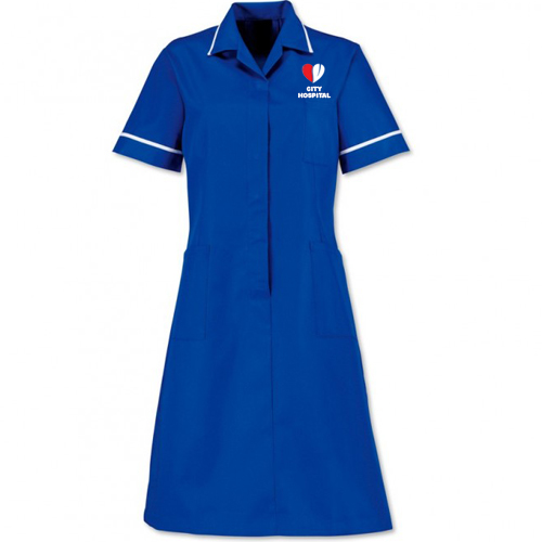 Long Length Nurse Uniform Top