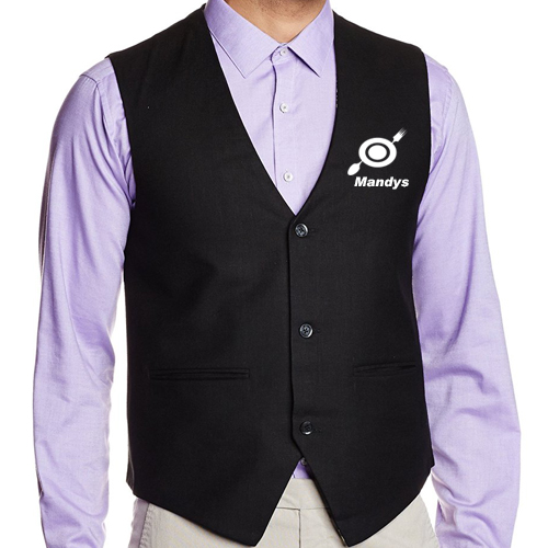 Waiter Waist Coat Black