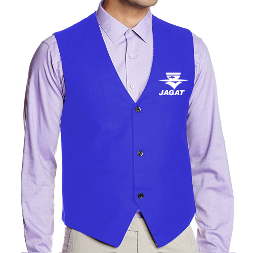 Waiter Waist Coat Blue