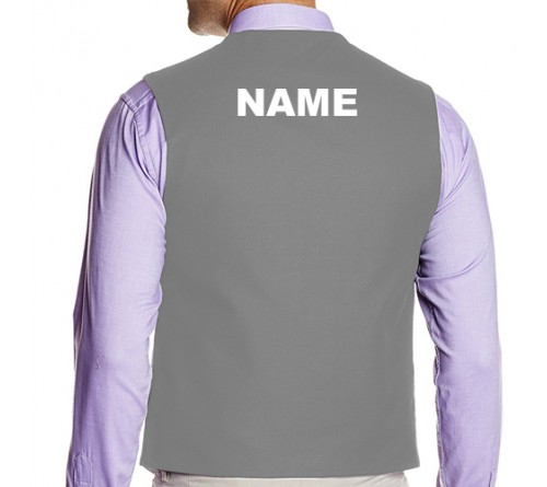 Waiter Waist Coat Gray