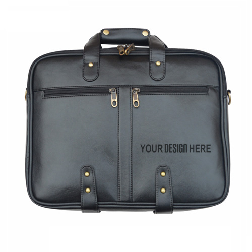 Leather Black Laptop Bag