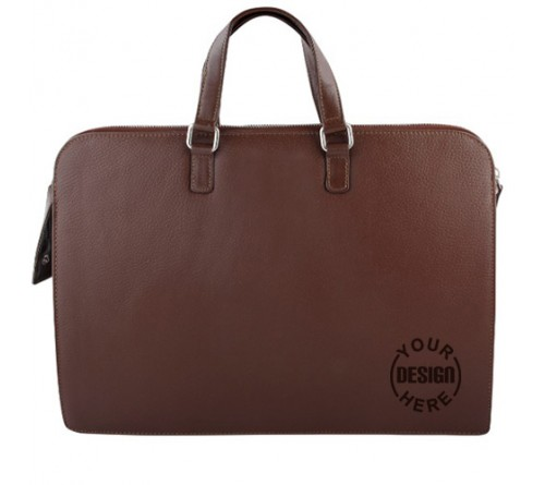 Custom Printed Leather Office Bags for Mens