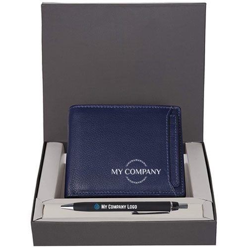 Personalized Wallet & Pen Gift Set For Men