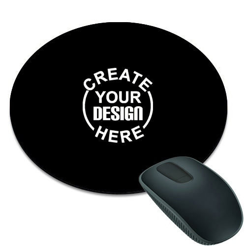 Black Round Mouse Pad