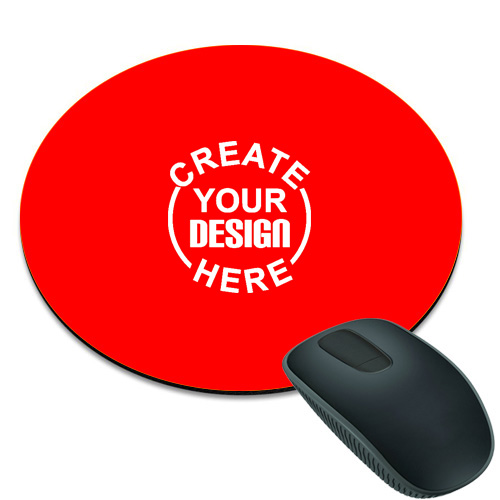 Red Round Mouse Pad