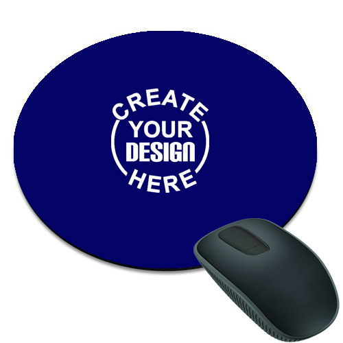 Royal Blue Round Mouse Pad