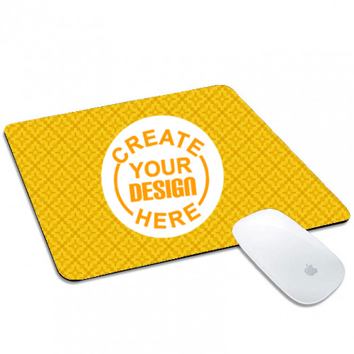 Yellow Pattern Mouse Pad Rectangle