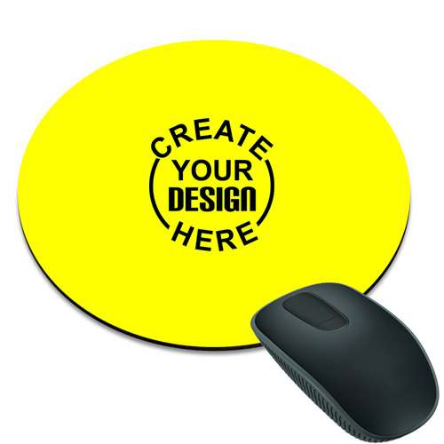 Yellow Round Mouse Pad