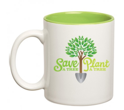 Dual Tone Coffee Mug Green