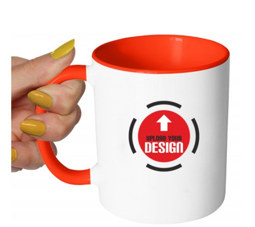 Dual Tone Coffee Mug Red