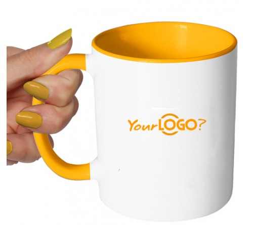 Dual Tone Coffee Mug Yellow