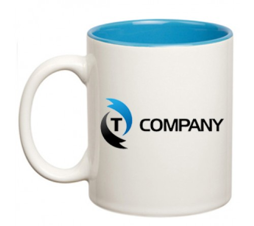Dual Tone Coffee Mug Blue
