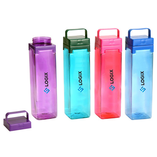 Set of 4 Square Fridge Bottle with Handle