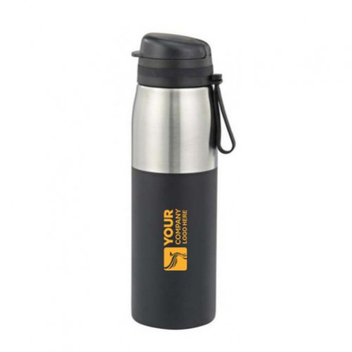 Black and Grey Turbo Single Wall Steel Bottle