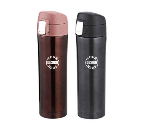 Vacuum Flask with easy lock lid