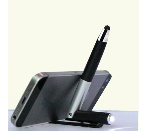 Folding Pen with Stylus Torch