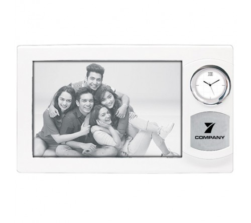 Rectangle Photo Frame with Clock