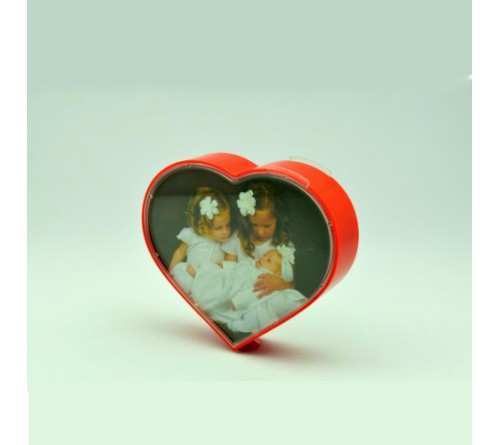 Rotating Heart Shape Dual Photo Frame