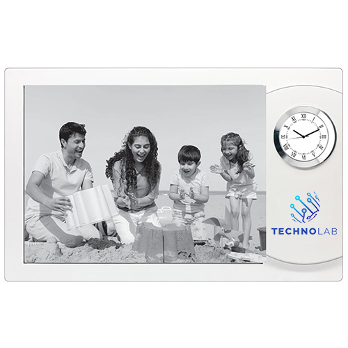 Personalized Photo Frame with Clock