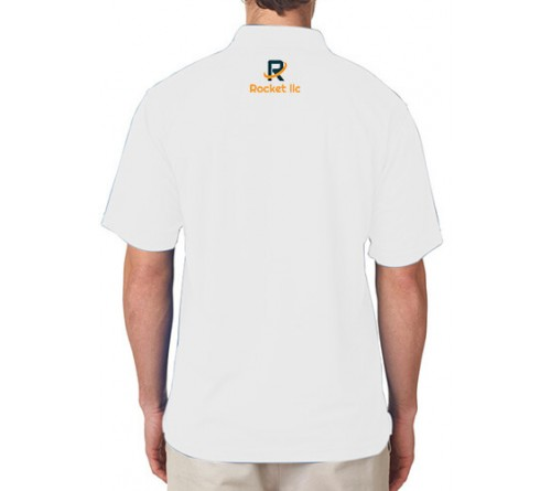 Embroidered Polo Dri Mesh T-Shirt White
