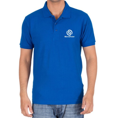 Embroidered Polo cotton T-Shirt Royal Blue