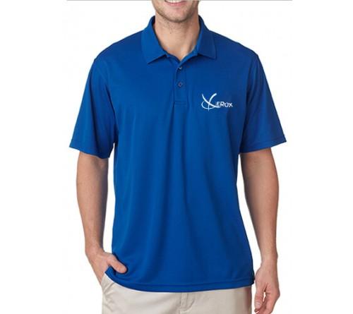 89ca2a56 Personalized Printed Printed Polo Dri Mesh T-Shirt Royal Blue ...