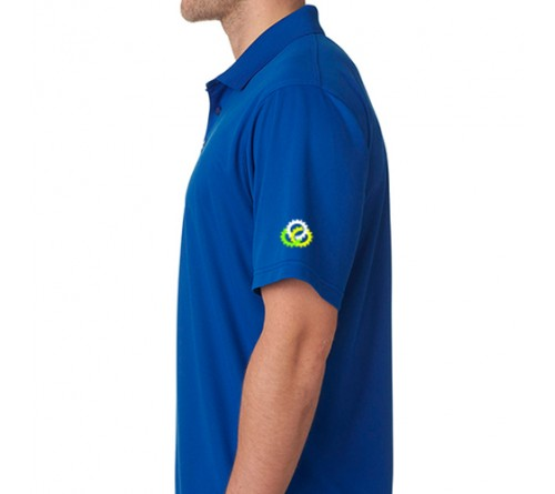 Printed Polo Dri Mesh T-Shirt Royal Blue