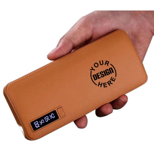 Leather Finish Power Bank with Torch 5600mAh
