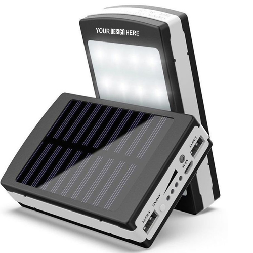 Solar Power Bank with High Quality Torch Dual USB