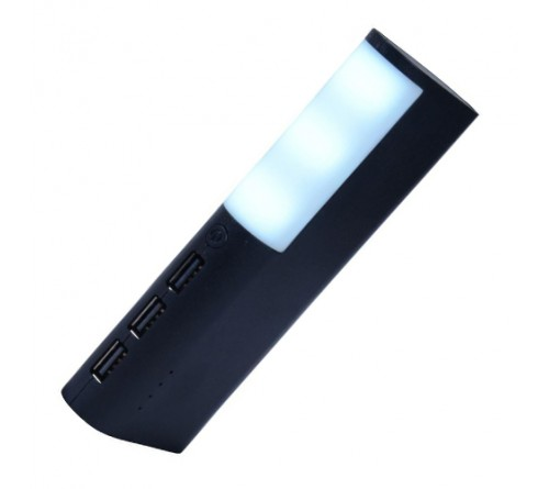 Side Led Light Power Bank With 3 Usb Port