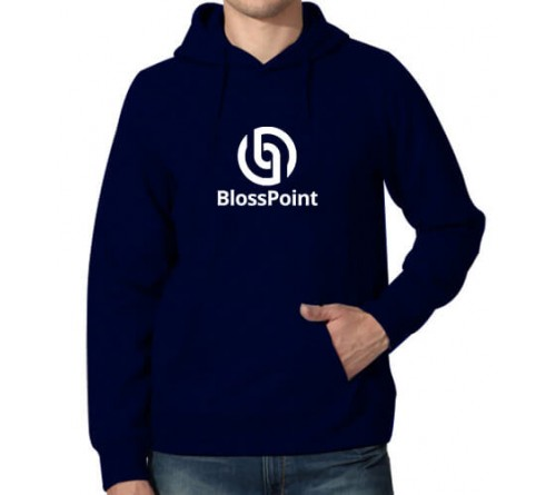Printed Hoodies Navy