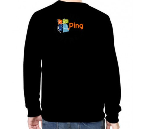 Printed Round Neck Sweatshirts Black