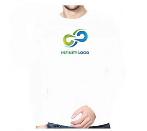 Printed Round Neck Sweatshirts White