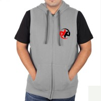 Sleeveless Sweat Jacket Gray