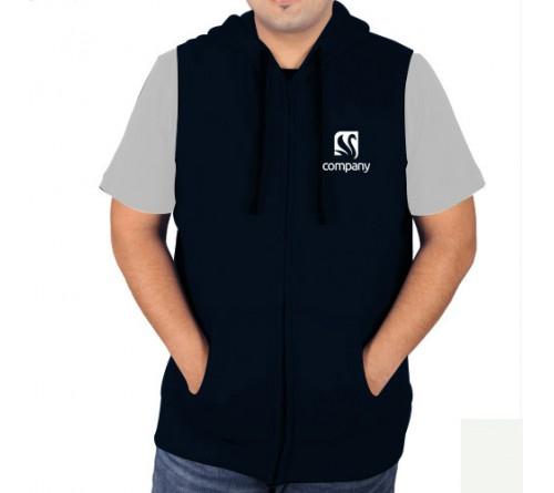 Sleeveless Sweat Jacket Navy