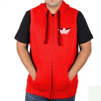 Sleeveless Sweat Jacket Red