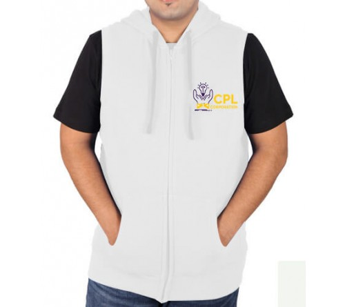 Sleeveless Sweat Jacket White