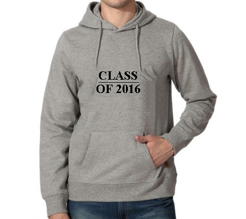 Printed Hoodies Grey Color