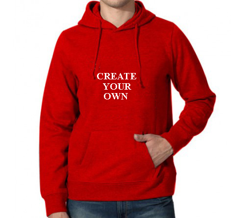 Printed Hoodies Red