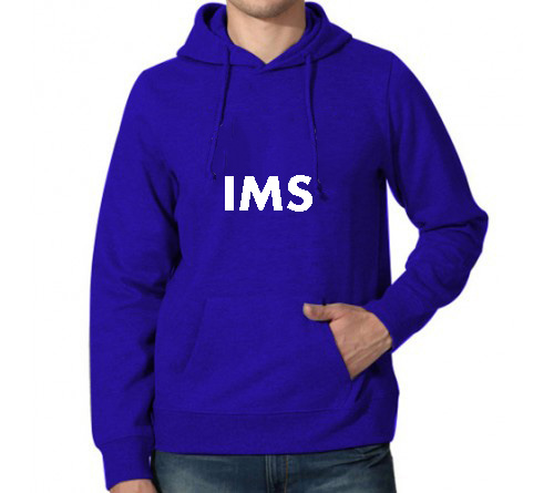 Printed Hoodies Royal Blue IMS