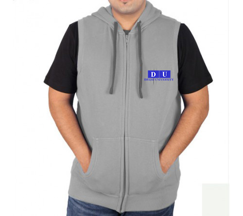 Sleeveless Sweat Jacket Gray Du