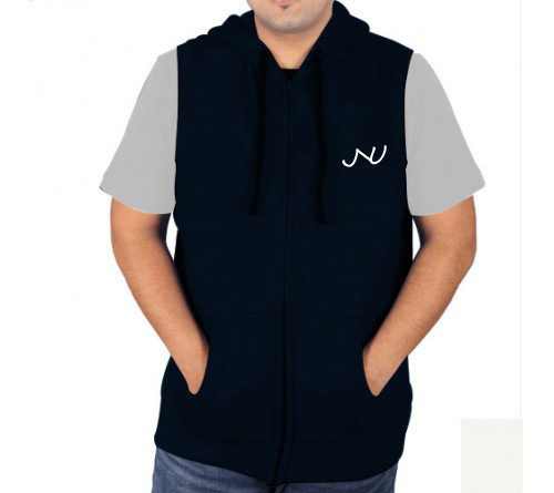 Sleeveless Sweat Jacket Navy Jnu