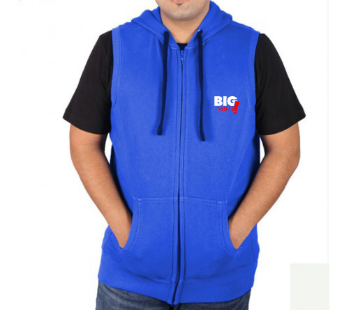 Sleeveless Sweat Jacket Royal Blue Big