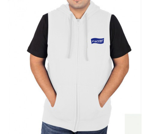 Sleeveless New  Sweat Jacket White