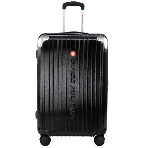 Swiss Military Evolution2 Black Hard Sided Luggage