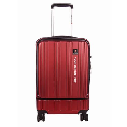 Swiss Military Stylish Red Trolley Bag