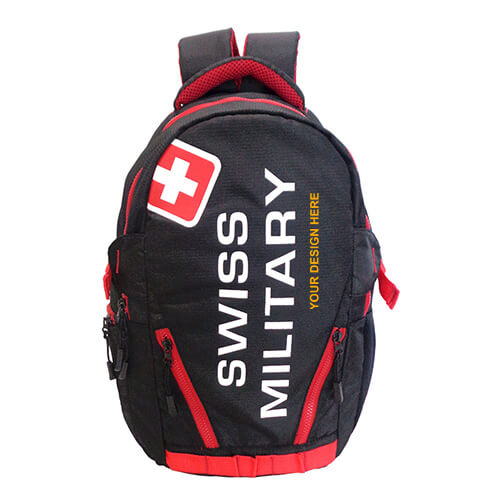 Swiss Military Red Laptop Backpack