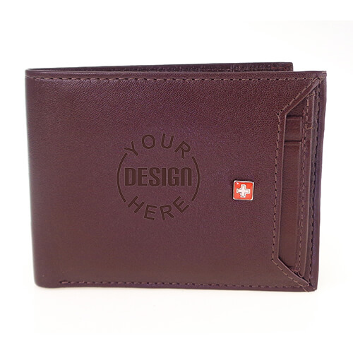 Swiss Military Engraved Leather Men Wallet