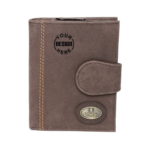 Swiss Military Genuine Leather Unisex Wallet