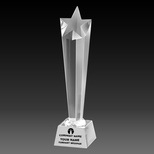 Custom Crystal Tower Trophy